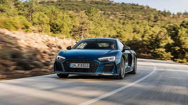 Audi R8 Coupe blue