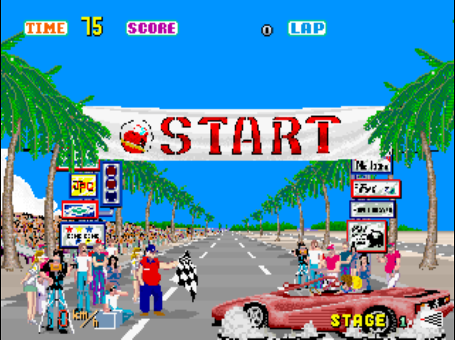 Sega Ages: Out Run remasters this, the original, for Nintendo Switch