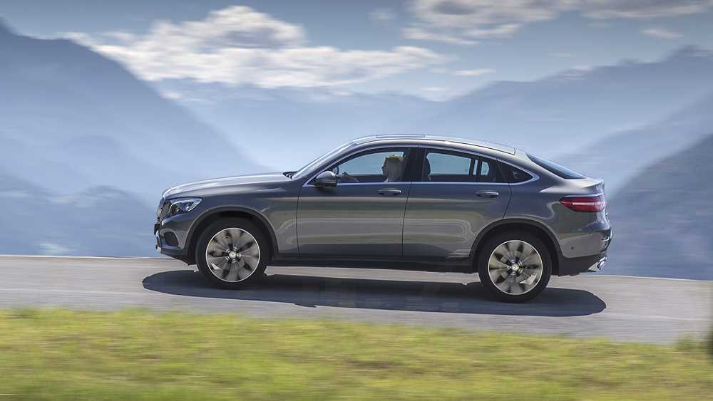The GLC Coupe features a sleeker shape than the standard GLC