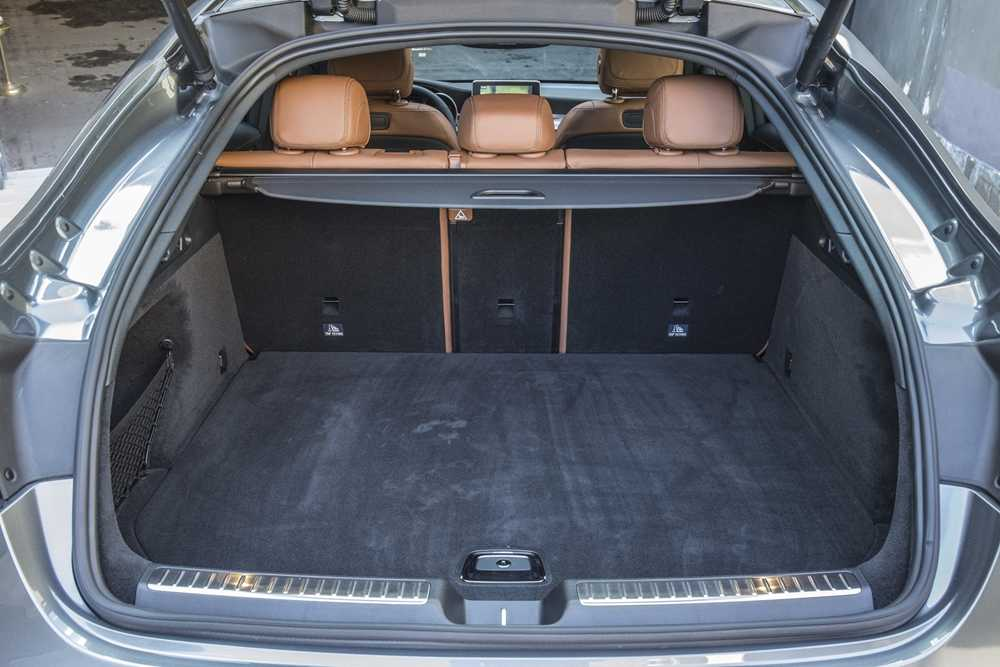 The GLC Coupe sacrifices some of the standard GLC's boot space, but not too much