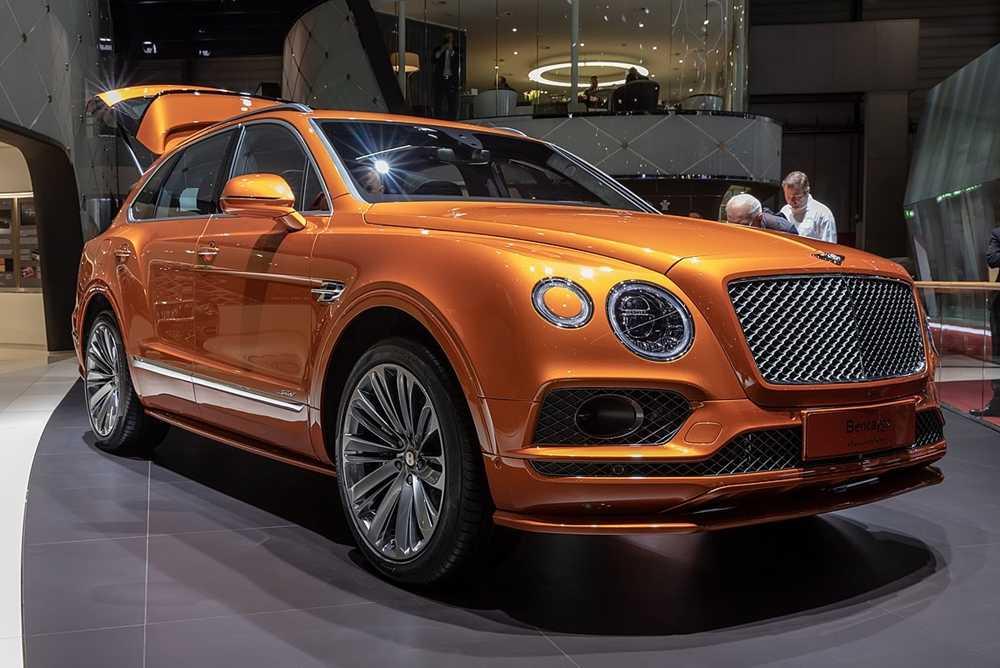 The Bentley Bentayga Sport on display