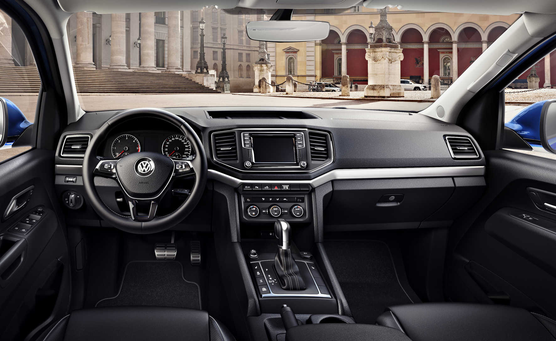 The facelifted Amarok's interior stands up well against the rivals