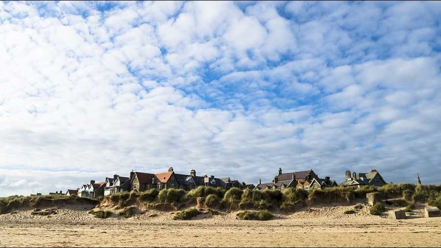 Alnmouth village from the beach