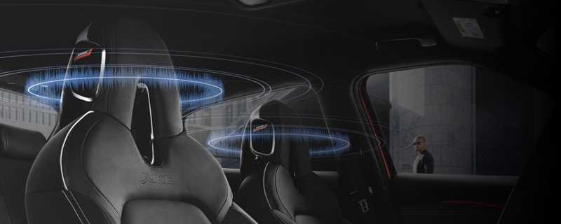 Bose Personal Plus headrests, offering 360-degree sound